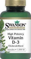 SWANSON-vitamin D 3 1000 IU x 30 capsules, vitamin d3