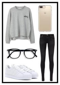 """#591 what if"" by xjet1998x ❤ liked on Polyvore featuring MANGO, AG Adriano Goldschmied, adidas and Speck"