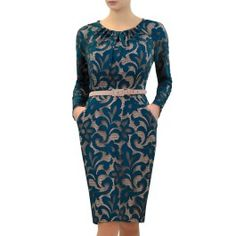 The Teal Amber Dress is a beautifully conservative yet feminine dress designed for busty women, perfect for weddings and cocktail parties. www.saintbustier.com