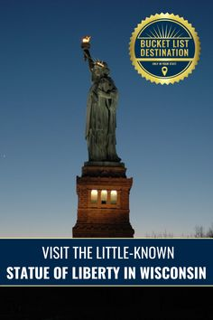 Most people don't know there's a little Statue of Liberty in Neenah, Wisconsin! This Lady Liberty is a perfect replica for the historic piece in Ellis Island, but just much smaller! Offering this small town some unique charm, this small statue is sure to delight locals and tourists!