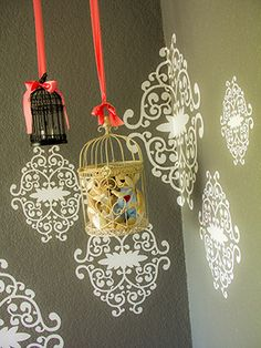 hanging lanterns from ceiling