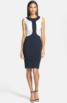 B44 Dressed by Bailey 44 'Defender' Mesh Inset Ponte Dress available at #Nordstrom