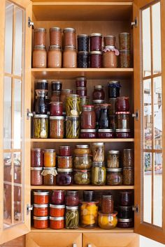 Simple Bites Kitchen Tour - the preserves pantry. #canning #diy #preserving