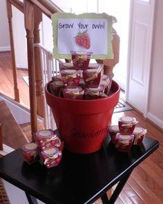 bridal shower favors - strawberry grow kits