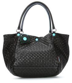 Viola Handtasche Leder schwarz 30 cm