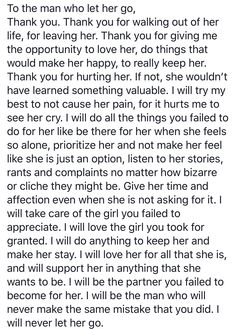 Thank you to the man who let her go!