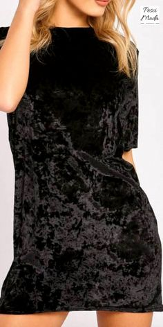 Black Velvet Stylish Short Sleeve Party Dress. Get Additional 10% Off your first order at www.pescimoda.com Shipping all over United States. #WomansFallFashion #TeensFallFashion #TeensFallOutfits #TeensFallFashionOutfits #FallOutfits #FallFashion2016 #Stylish #Cute #BohoChic #ChicFashion #FallFashion #BohoFashion #FallCollection #WomansFashion #WomansFallOutfits #WomansFallFashion2016 #VelvetFashion #PrettyMiniDress #VelvetDress