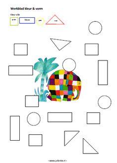 kleur vorm werkbladen