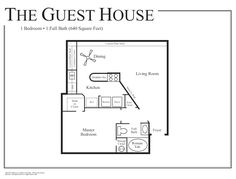 1 Bedroom House Plans   Floor Plans Madison House   Cabin ...