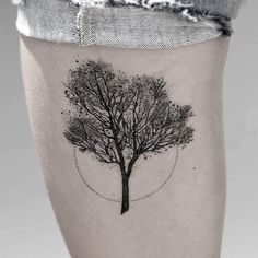tree dotwork tattoo