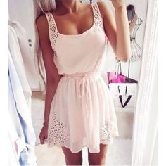 Summer Outfit - Lace Dress #fashion #beautiful #pretty Please follow / repin my pinterest. Also visit my blog http://fashionblogdirect.blogspot.dk