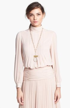 Tory+Burch+'Jasmine'+Pleated+Silk+Blouse+available+at+#Nordstrom