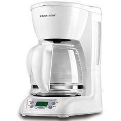 Black & Decker 12-Cup Programmable Coffeemaker, White $15