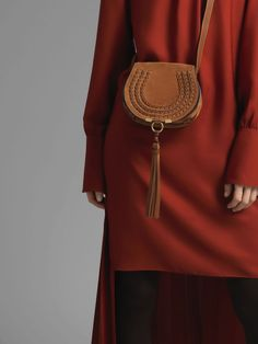 e20656474b Chloe   MINI MARCIE BAG Mini Marcie round saddle bag in caramel suede  calfskin. Chloe