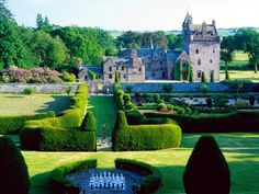 Guthrie Castle in Scotland