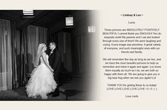 """Lindsay & Lou   """"Lucia, these pictures are ABSOLUTELY POSITIVELY BEAUTIFUL I cannot thank you ENOUGH! You do exquisite work! My parents and I sat and looked through every one of them! We were laughing and crying. Every image was priceless. We will remember this day as long as we live, and we have the most beautiful pictures to help us relive it again and again. We are going to give you a big bear hug when we see you again...""""  Read more at: http://www.luciacintra.com/kind-words-from-clients/"""