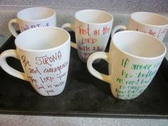 A thank you mug - have sisters write short and sweet thank-yous and give one to each of your chapter's advisors!
