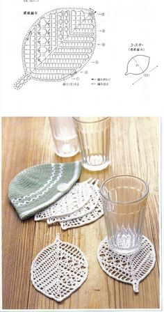 Pretty leaf coasters, from Sandra Pontos #crochet #motif