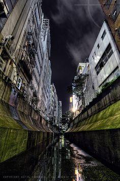 Down in the drain which is the Shibuya river-Shibuya,Tokyo