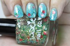 Bridal Gradient: Wacie Nail Company's Bridal Bouquet, China Glaze's For Audrey, Orly's Water Lily