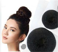 3 Adet/takım Sml 3 Farklı Boyutları Siyah Kişisel Süslemeleri saç Şekillendirici Donut Sihirli Sünger Bun Yüzük Maker Eski Büküm araçları