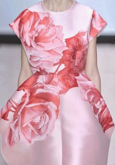 PRINTS, PATTERNS, TRIMMINGS AND SURFACE EFFECTS FROM PARIS FASHION WEEK (A/W 14/15 WOMENSWEAR) / 2 From Paris womenswear catwalks, beautiful details and inspirations.  Giambattista Valli
