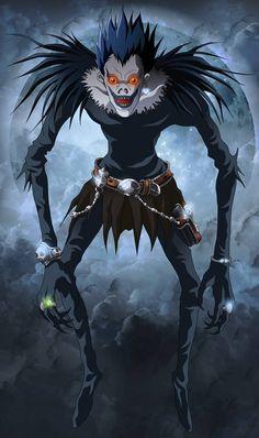 Ryuk is a Shinigami and the deuteragonist in the anime/manga series Death Note. Otaku Anime, Manga Anime, Film Anime, Art Manga, Cosplay Death Note, Shinigami, Death Note Ryuk, Death Note Fanart, Anime Disney