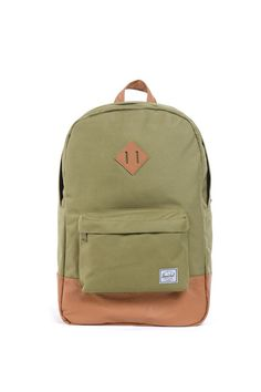 c592ed5718e HERSCHEL SUPPLY CO HERITAGE ARMY TAN BACKPACK H-123-29-09 AW12 -