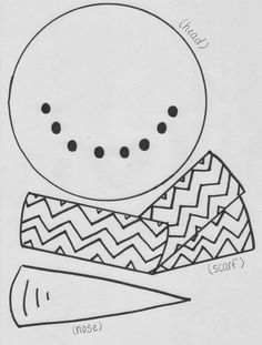 FREEBIE Snowman pattern download (includes head, nose, scarf and body) from Mrs. Heeren's Happenings