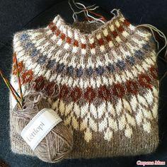 Knitting Patterns Yarn herminehesse: Icelandic Sweaters (my favies to make) Fair Isle Knitting Patterns, Knitting Designs, Knit Patterns, Knitting Projects, Knitting Tutorials, Stitch Patterns, Ropa Free People, Tejido Fair Isle, Icelandic Sweaters