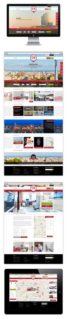 Web design, UI/UX design, website OI BARCELONA REAL ESTATE