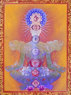 the first chakra. The Sacral; the second chakra. The Solar Plexus; the third chakra. The Heart; the fourth chakra. The Throat; the fifth chakra. The Third Eye; the sixth chakra. The Crown; the seventh chakra. Arte Chakra, Chakra Art, Chakra Healing, Sacral Chakra, Throat Chakra, Chakra Painting, Chakra Symbols, Chakra Mantra, Sept Chakras