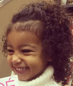 LOOK AT THESE CURLS, PEOPLE! | North West Let Out Her Natural Curls And She Looks Absolutely Adorable