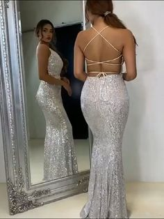 Pretty Prom Dresses, Elegant Dresses, Pretty Outfits, Beautiful Evening Gowns, Beautiful Dresses, Women's Fashion Dresses, Couture Dresses, Sequin Evening Dresses, Mermaid Evening Dresses