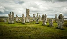 The Standing Stones at Callanish This one can be found on Isle of Lewis which is the part of the Outer Hebrides in Scotland. This megalithic structure must be one of the most popular spots to visit in the region. It consists of 12 standing stones and one central stone. The area is rich in stone circles of similar structure. The legend says that giants once inhabited the island, but were turned into stones by St Kieran.