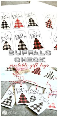 Buffalo Check Holiday Tags > Free printable Christmas gift tags from Free Printable Christmas Gift Tags, Holiday Gift Tags, Christmas Gift Wrapping, Holiday Crafts, Christmas Crafts, Christmas Decorations, Printable Tags, Christmas Holiday, Christmas Lanterns