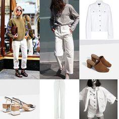 White denim is an essential right now White Denim, Pants, Shopping, Fashion, Trouser Pants, Moda, Fashion Styles, Women's Pants, Women Pants