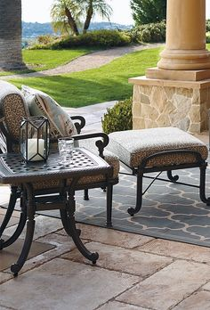 Our Carlisle Slate Seating Collection offers more compelling choices than ever. The impeccable, grandly scaled cast-aluminum frames are crafted to stand the test of time. | Frontgate: Live Beautifully Outdoors