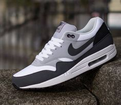 Nike Air Max 1 Essential-White-Anthracite-Wolf Grey-Black