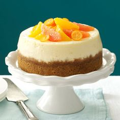 Pink Grapefruit Slow Cooker Cheesecake Recipe from Taste of Home -- shared by Krista Lanphier of Milwaukee, Wisconsin