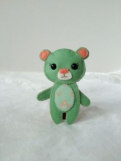 Mint Green Bear Brooch Kawaii Mini Teddy Bear Pin Cute Accessories Felt Bear