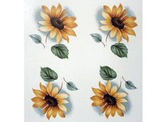 "4934 Black Eyed Susan Flowers Waterslide Ceramic Decals By The Sheet (1 1/4"" 48 pcs)"