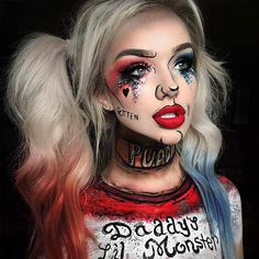 Easy Halloween Makeup Ideas to Have Fun with Friends ★ See more: https://makeupjournal.com/easy-halloween-makeup-ideas/ #nails