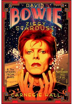9/28/1972 - David Bowie Poster. Miss him, his createtivity