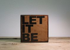 The Beatles Lyric Typography Art  Let It Be  by MatchBlox on Etsy, $29.00