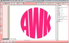 How to create a circle monogram in Silhouette Studio!