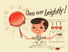 Once over brightly!  Detail from 1956 Twinkle Copper Cleaner ad.