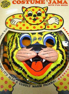 Vintage Ben Cooper Costume 'Jama Tiger Halloween Costume