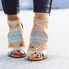 Her toes look beat, but the shoes are super cute.