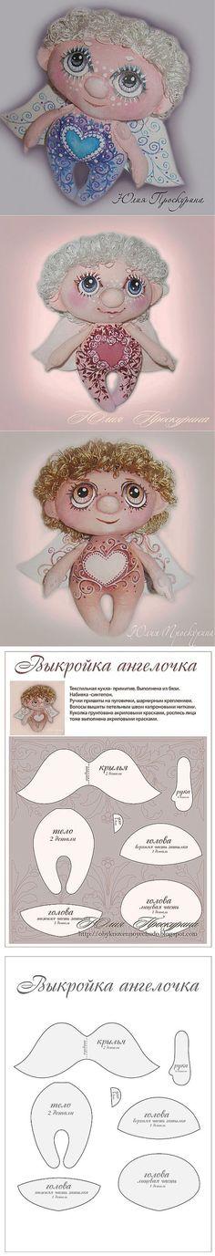 Gente olha só isso!!! Amei, para quem gosta de pintar dê uma olhada nesses anjinhos, o corpo e rosto são pintados, achei super criativo, deu ate vontade de